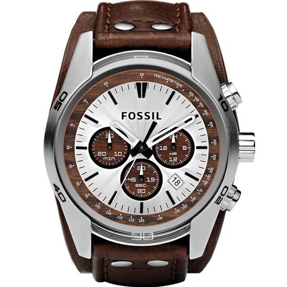 Relógio Fossil Masculino Coachman Couro Marrom Ch2565/0mn
