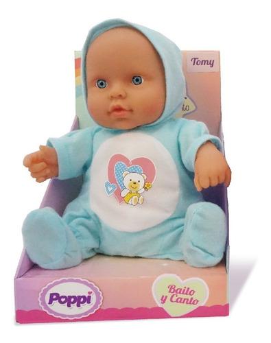 Imagen 1 de 3 de Muñeca Bebe Poppi Bailo Y Canto 23cm Con Sonido Pc