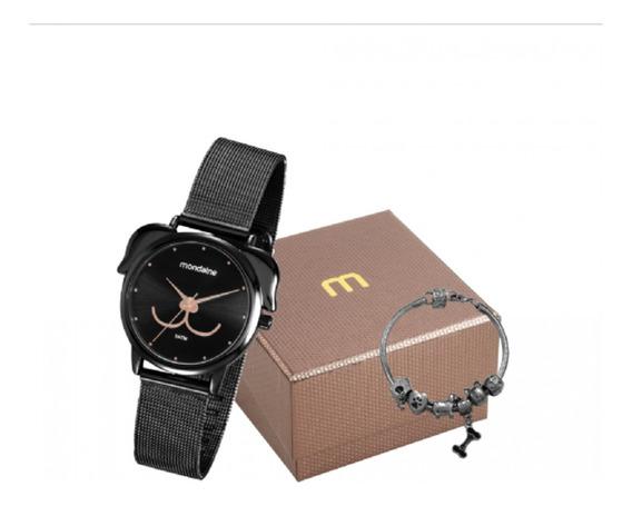 Relógio Feminino Mondaine Preto Pet Cão 53783lpmvpe2k1 Nf
