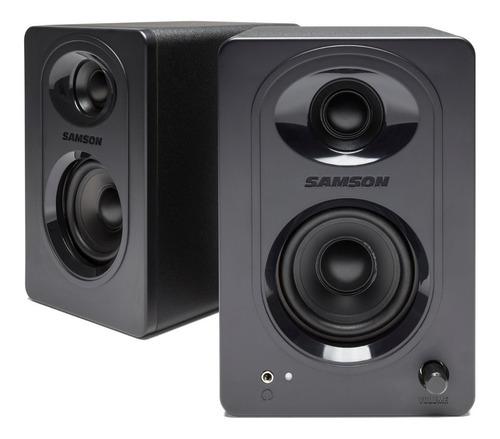 Imagen 1 de 8 de Monitores De Estudio Samson Mediaone M30 Activo Audio Par