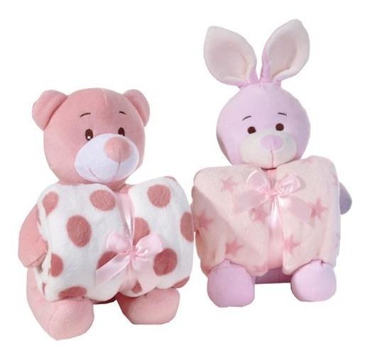Manta Infantil 100 X 75 Cm Carinhosos Panosul Rosa - 10288 -