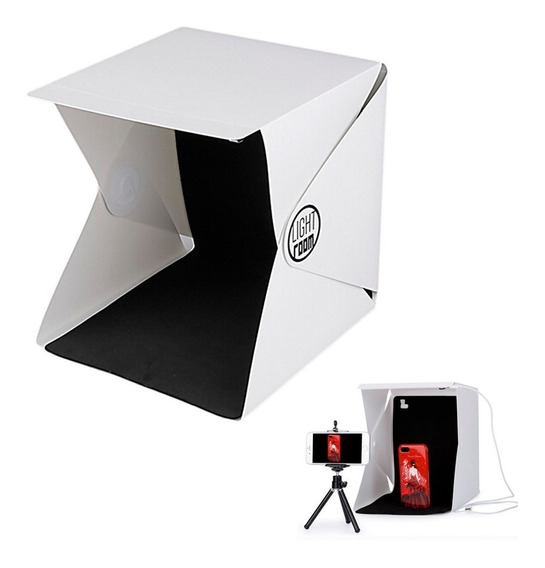 Mini Foto Estudio Portátil Plegable Caja De Luz Led