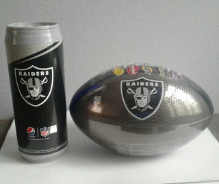 Nfl Balón Snickers Lata Termo Pepsi Oakland Raiders Football