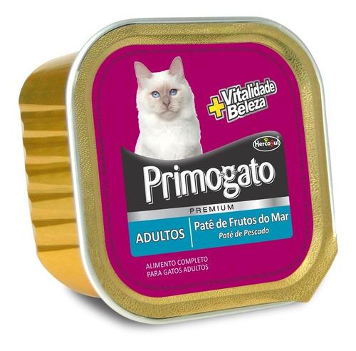 Pate Gato Primogato Adulto Frutos De Mar 150 Grs (caja X12)
