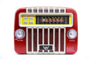 Radio Retro Caixa Fm Am Sw Tf Usb Pendrive Bivolt Aux 3w