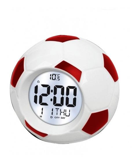 Relógio Digital Despertador Bola De Futebol - Atima
