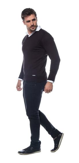 Blusa Suéter Decote Em V Tricot Masculino Ref. 15