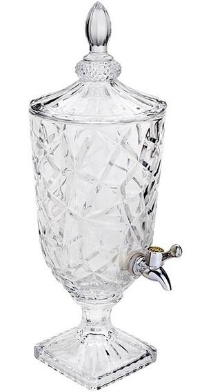 Suqueira De Vidro Cristal Dispenser De Bebidas 3 Litros Luxo