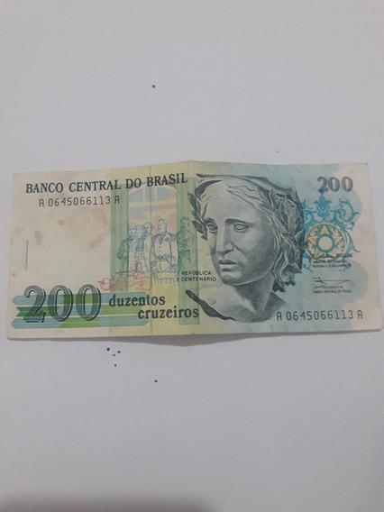 Nota Antiga De Duzentos Cruzeiros Frete Gratis