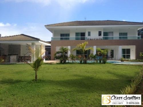 Imagem 1 de 20 de Casa Alto Padrão - Condomínio Encontro Das Águas - Lauro De Freitas - Ca00404 - 33443744