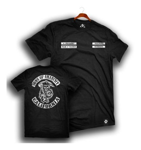 Imagen 1 de 8 de Playera Sons Of Anarchy Kaniel Logo Samcro Redwood Mayhem Lp
