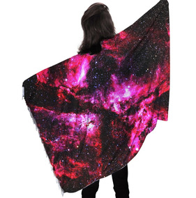 Kanga De Praia Poliéster Galaxia Tumblr Nebulosa Star Trip