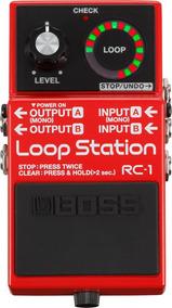 Pedal De Loop Boss Rc-1 Loop Station - C/nf E Garantia Rc1