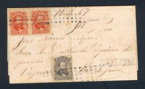 História Postal Carta Império Dom Pedro Ii Carimbologia