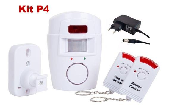 P4 Alarme Residencial Pop Comercial Sem Fio+ Fonte 6v Bivolt