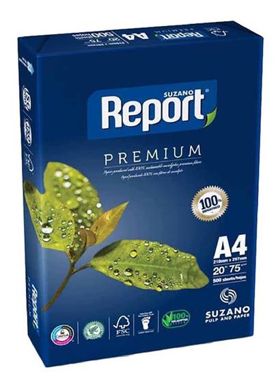 Resma A4 De 75 Gr 500 Hojas Blanca Report Premium