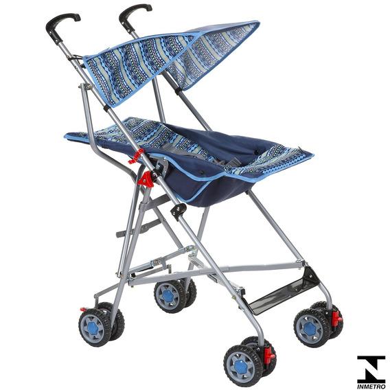 Carrinho De Passeio Para Bebê Umbrella Slim Azul Voyage