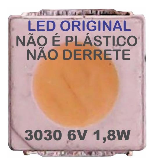 Kit 100 Led Smd 3030 6v 1,8w 32l2400 48l2400 40l2400 (c/aba)
