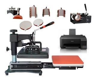 Plancha Sublimacion 8en1 Tlp Único En M L + Impresora + Muestrario M