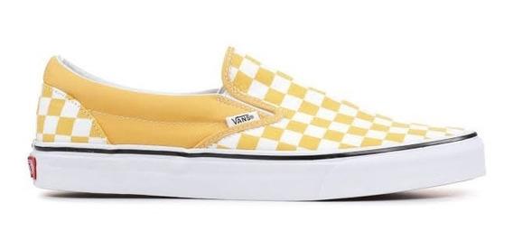 Tenis Vans Classic Slipon Checkerboard Mujer Moda Cuadros Og