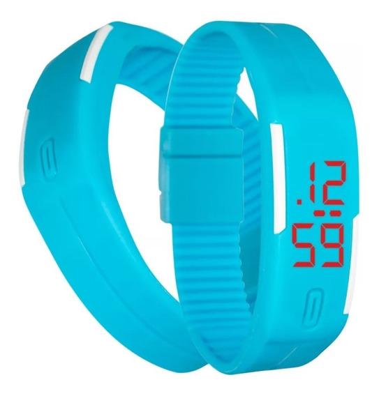 Reloj Touch Digital Deportivo De Pulsera Azul Envio Gratis