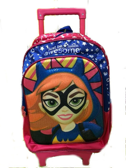 Mochila Carro 16 Pulgadas Batichica Dc Super Hero Girls