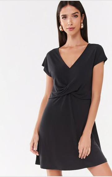 Vestido Rosa / Negro Corto Forever 21 Casual Importado Svoz