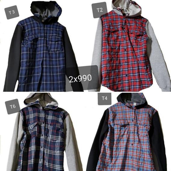 Camisas Viyela Con Algodon Frizado T 2 Al 6- Liquidacion 2x1