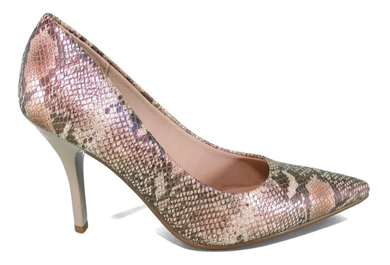 Zapatos Taco 10 Cm Natural Beira Rio 4122900 Mujer Lujandro