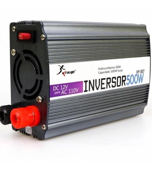 Inversor Conversor Veicular Knup 500w Kp-507 Dc 12v Ac 110v