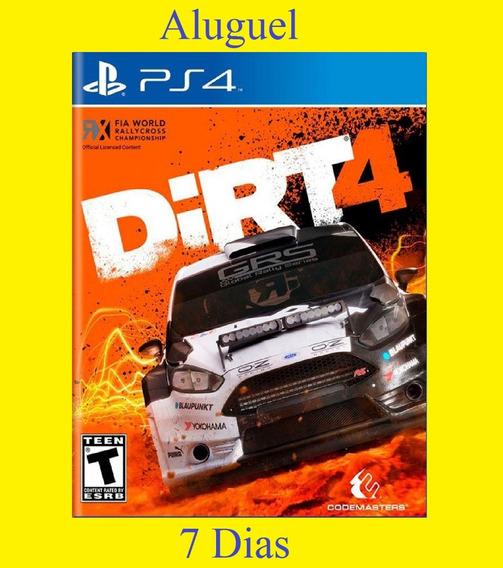 Dirt 4 - Ps4 - Aluguel 7 Dias