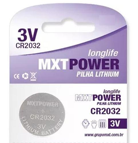 Bateria Cr2032 Mxt Lithium 3v Unitária