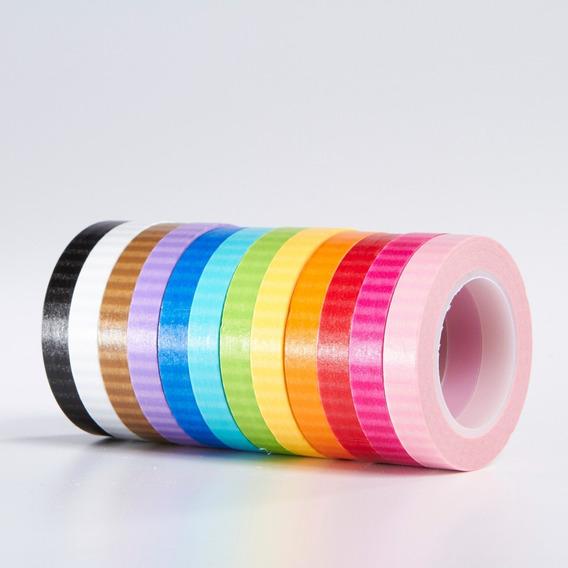 Washi Tape Colores Scrapbook Doodlebug Paquete C/12 Stripes