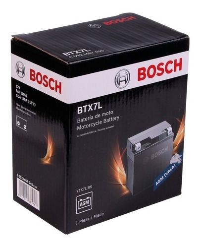 Imagen 1 de 2 de Bateria Bosch Ytx7l-bs Tornado Falcon 400 Twister 250 En Fas