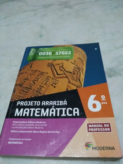 Projeto Araribá Matematica 6 Professor