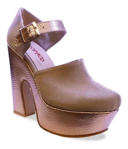 Zapato Oropaco Dama Carla Dorado
