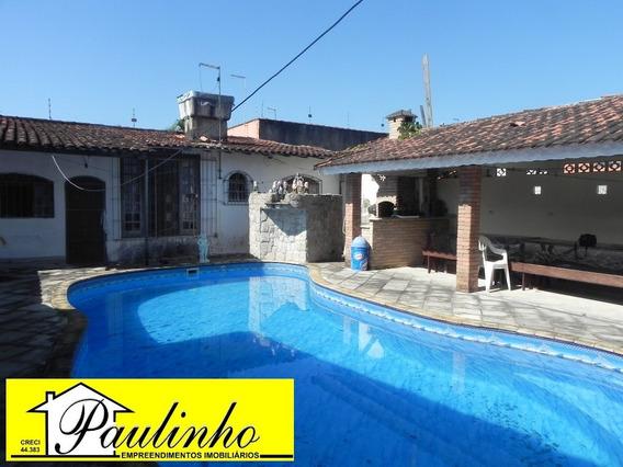 Casa Na Praia De Peruíbe, Litoral Paulista, Com 3 Dormitórios Sendo 1 Suíte, Piscina - Ca01110 - 1966001