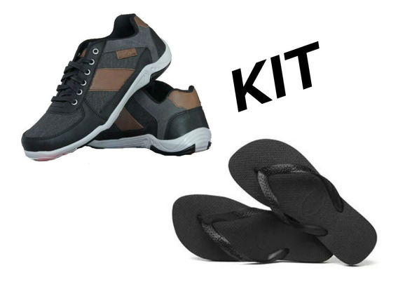 Kit 1 Havaianas Top + 1 Tênis Sapatenis Casual Imperdivel