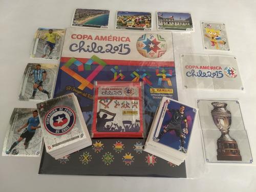 Copa America 2015  Set 20v Completo Barajitas + Album Panini