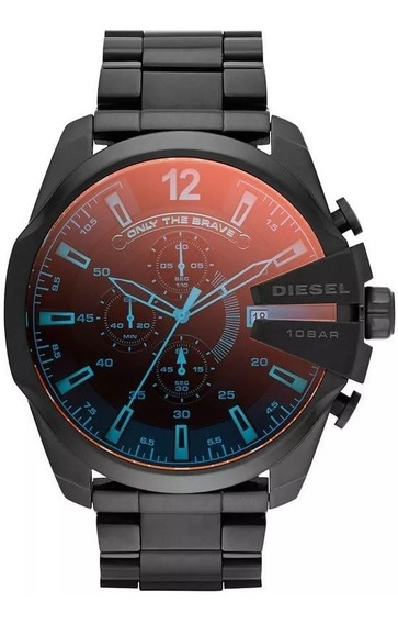 Relógio Diesel Preto Dz4318 Vidro Camaleão