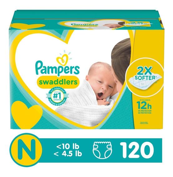 Pampers Swaddlers Etapa Recién Nacido, 120 Pañales Unisex