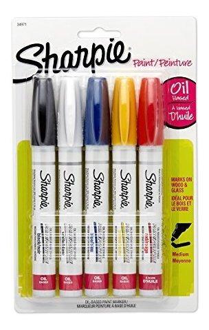 Imagen 1 de 5 de Sharpie Marcadores Base Aceite Pintura, Tejido Medio, Color
