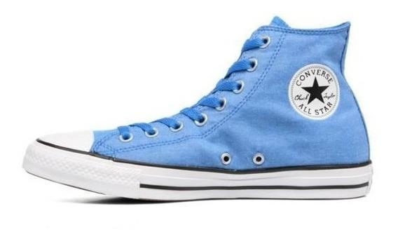 Botitas Converse All Star Azul Blanco Lino! 100% Original!