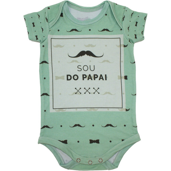 Body Bebê Estampado Manga Curta Sou Do Papai - Isabb