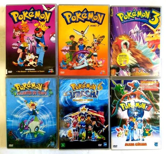 Dvd Colecao Pokemon 6 Filmes - Original -