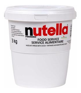Nutella Gigante - Super Balde De 3kg Pronta Entrega