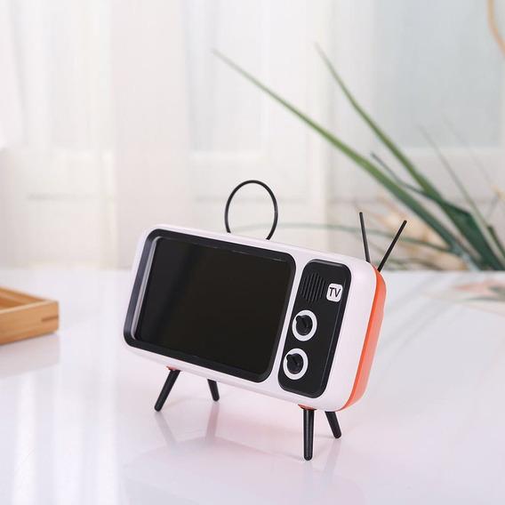 Forma De Tv Retro Alto-falante Estéreo 1200mah 2.0 Interface