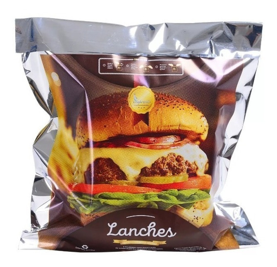 Embalagem Lanches Hambúrguer Saco Térmico 1000 Unidades