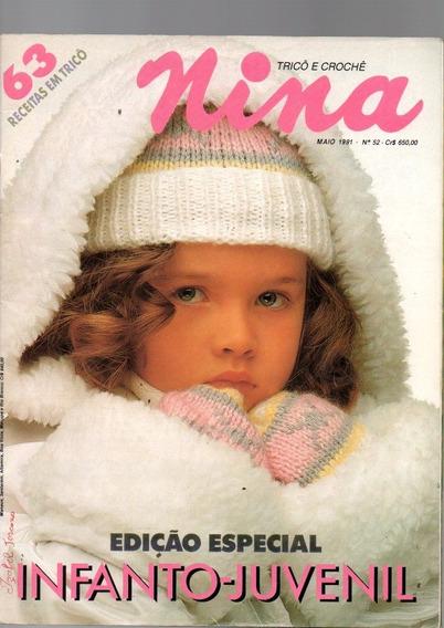 Revista Nina Tricô E Crochê Ed Especial Infanto Juvenil 1991