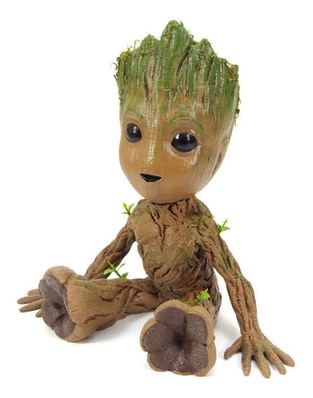 Boneco Baby Groot 20cm Pintado Realista (guardiões Galáxias)